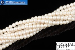 Swarovski crystal pearls Crystal Prearlescent White Pearl (969) 3mm,1pc SWpearl-020