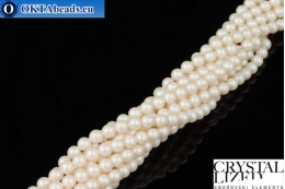 Swarovski crystal pearls Crystal Prearlescent White Pearl 4mm, 1pc SWpearl-015