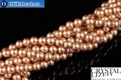 Swarovski хрустальный жемчуг Crystal Rose Gold Pearl (769) 4мм,1шт