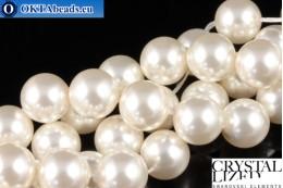 Swarovski křišťálové perly Crystal White Pearl (650) 10mm,1ks SWpearl-040