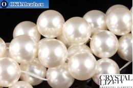 Swarovski křišťálové perly Crystal White Pearl (650) 12mm,1ks SWpearl-041