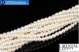 Swarovski crystal pearls Crystal White Pearl (650) 3mm,1pc SWpearl-021