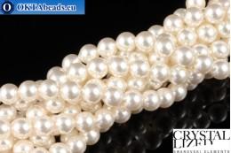 Swarovski křišťálové perly Crystal White Pearl (650) 5mm,1ks SWpearl-034