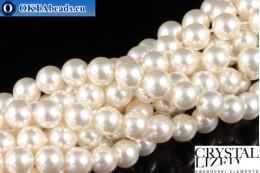Swarovski křišťálové perly Crystal White Pearl (650) 6mm,1ks SWpearl-036