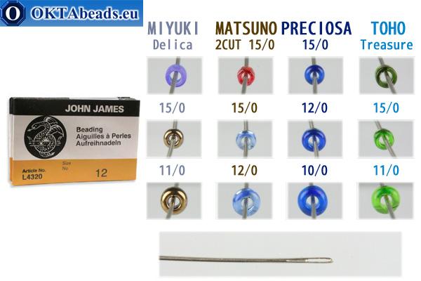 English beading needles N12, ~25pc