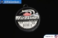 FireLine Black Satin černý 4LB 0,12mm, 45m fireline006