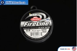 FireLine Black Satin 4LB 0,12mm, 45m fireline006