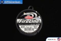 FireLine Black Satin 6LB 0,15mm, 45m fireline005