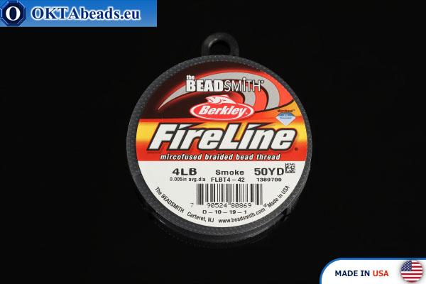 FireLine Smoke серый 4LB 0,12мм, 45м fireline004