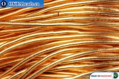 Канитель Новое золото Средняя 0,9мм ~42см-0,6гр