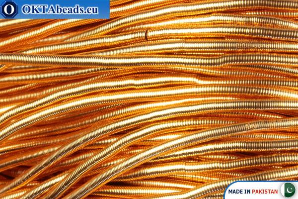Канитель Новое золото Средняя 0,9мм ~42см-0,6гр fwire06