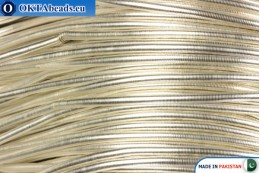 French wire Silver Heavy 1,1mm ~42cm-0,9gr fwire03