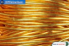 Канитель Золото Средняя 0,9мм ~42см-0,6гр