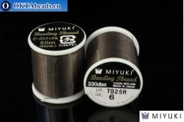 Miyuki нити размер B Brown 50м MI06