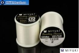 Miyuki нити размер B Eggshell 50м MI02