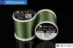 Miyuki nitě velikost B Green 50m