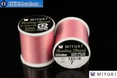 Miyuki threads size B Pink 50m MI07