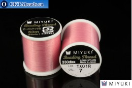 Miyuki нити размер B Pink 50м MI07