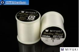 Miyuki threads size B White 50m MI01