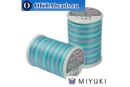 Miyuki nití na háčkování - Carribean Blue (101) ~25m MBC8-101