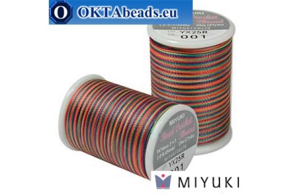 Miyuki nití na háčkování - Rainbow (001) ~25m MBC8-001