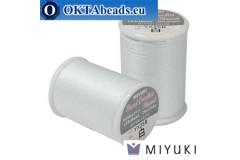 Miyuki bead crochet thread - White ~25m MBC8-WH