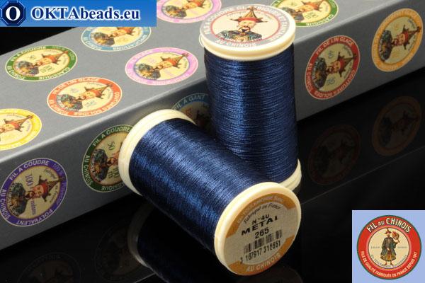 Nití Fil A Coudre Au Chinois Navy blue (265) 0,35mm, 100m