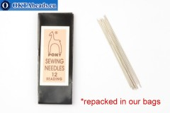 Pony beading needles N12, 5pc