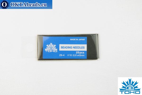 Toho beading needles 10 0,51mm, 25pc