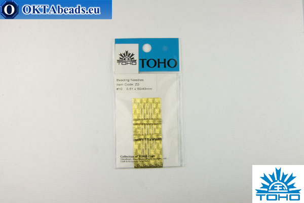 Toho beading needles 10 0,51mm, 6pc