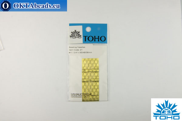 Toho beading needles 11 0,41mm, 6pc Z1-6