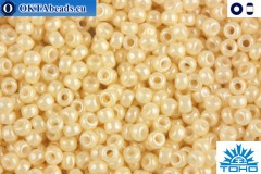 Toho Beads Opaque-Lustered Lt Beige (123) 15/0