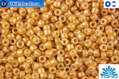 TOHO Beads Opaque-Lustered Dark Beige (123D) 15/0