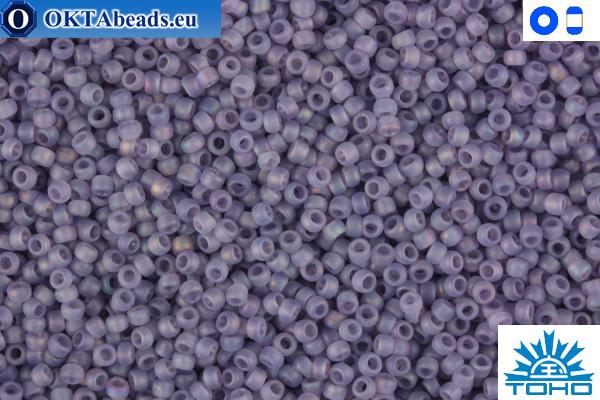 TOHO Beads Trans-Rainbow-Frosted Lt Tanzanite (166DF) 15/0