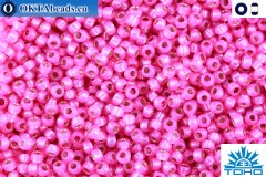 TOHO Beads Silver-Lined Milky Hot Pink (2107) 15/0