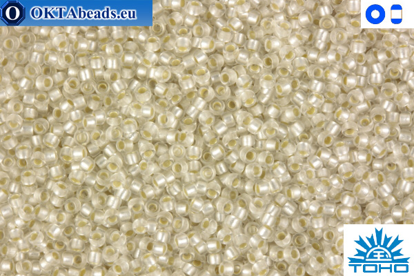 TOHO Beads Silver-Lined Frosted Crystal (21F) 11/0 TR-11-21F