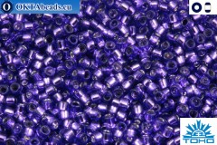 TOHO Beads Silver-Lined Purple (2224) 15/0
