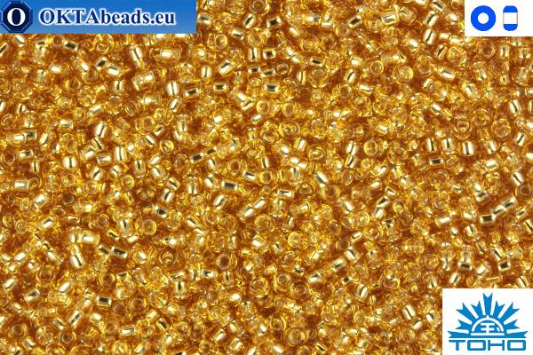 Toho Beads Silver-Lined Med Topaz (22B) 15/0 TR-15-22B