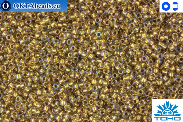 TOHO Beads Inside-Color Crystal/Gold Lined (262) 11/0 TR-11-262