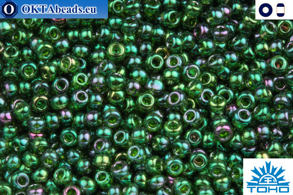 TOHO Beads Gold-Lustered Emerald (322) 11/0 TR-11-322