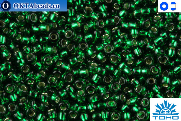 TOHO Beads Silver-Lined Green Emerald (36) 11/0