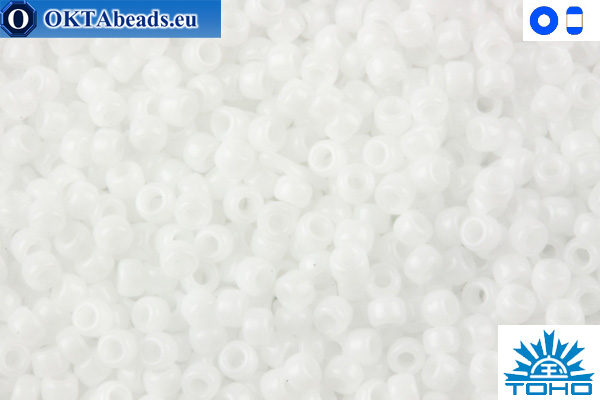 TOHO Beads Opaque White (41) 11/0