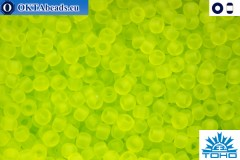 TOHO Beads Transparent-Frosted Lime Green (4F) 11/0