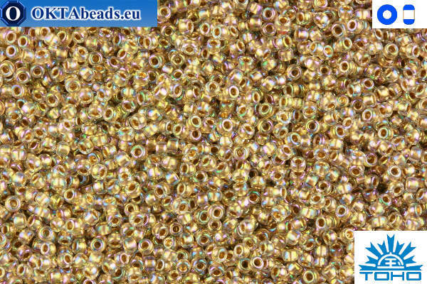 TOHO Beads Gold-Lined Rainbow Crystal (994) 11/0