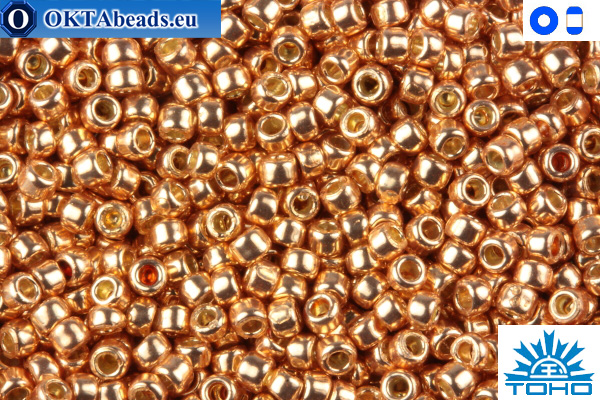 TOHO Beads Permanent Finish - Galvanized Rose Gold (PF551) 15/0