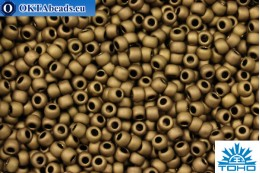 TOHO Beads Round Frosted Bronze (221F) 11/0, 10gr TR-11-221F