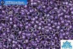 TOHO Beads Бисер Inside Color Rainbow Crystal/Metallic Purple Lined (265) 15/0, 5гр
