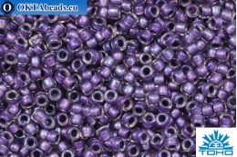TOHO Beads Бисер Inside Color Rainbow Crystal/Metallic Purple Lined (265) 15/0, 5гр TR-15-265