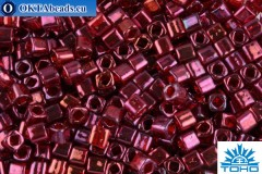 TOHO Beads Cube Gold-Lustered Raspberry (332) 4mm