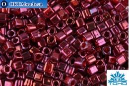 TOHO Beads Cube Gold-Lustered Raspberry (332) 4mm